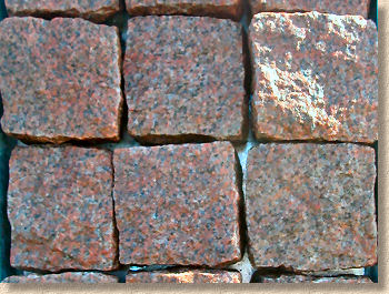 hewn red granite
