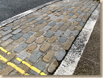 setts used as a rumble strip