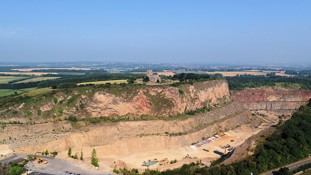 Breedon Quarry Aerial View