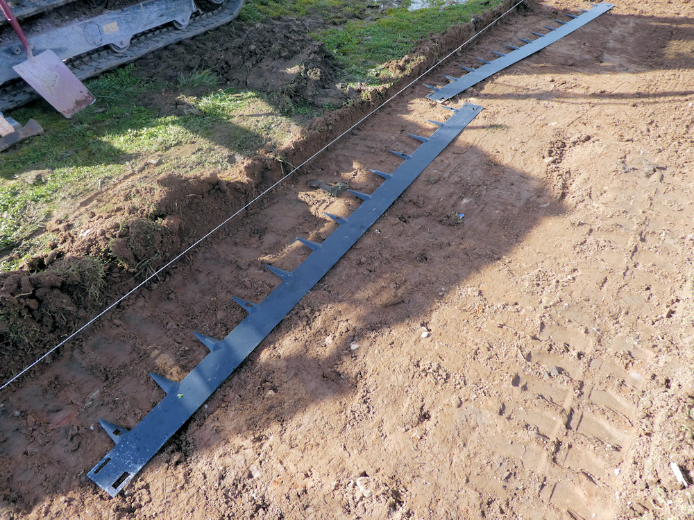 edgings laid out