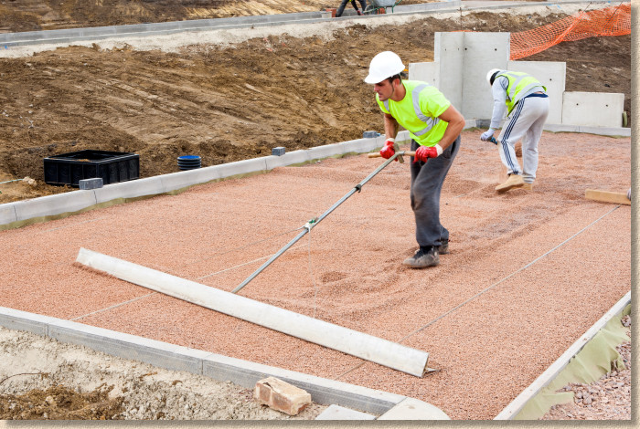 screeding using professional tools