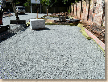 levelled and compacted sub-base