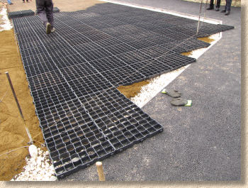 extending pavers beyond cut line