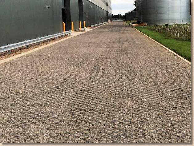 cell pavers at oil refinery