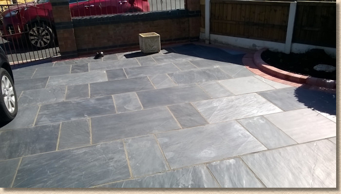 Midnight Slate flagstones to drive