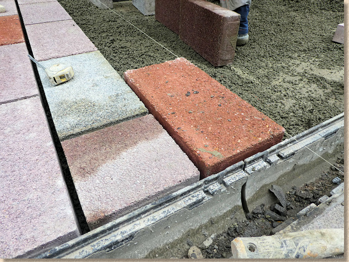 paver laid onto prepared bed