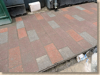freshly jointed paving