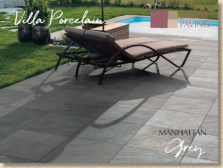 Manhattan Grey Porcelain Paving