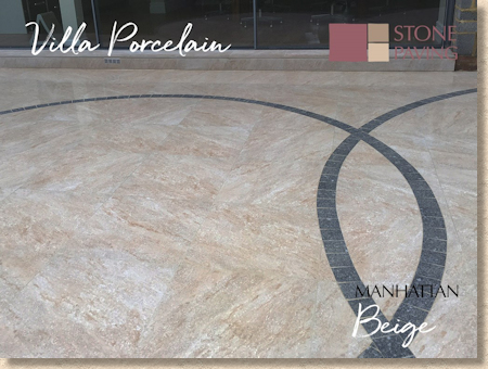 Manhattan Beige Porcelain Paving