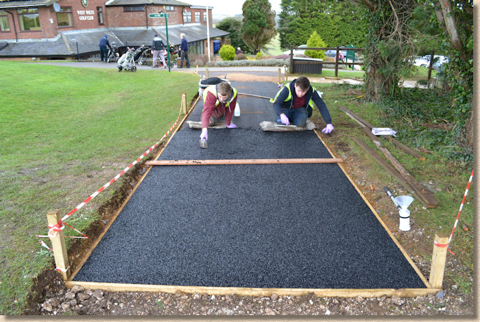 levelling resin bound surfacing