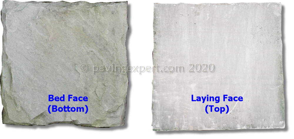 bed vs laying faces of an imported sandstone