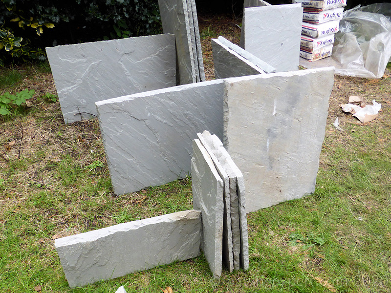 dangerous stacking of flagstones