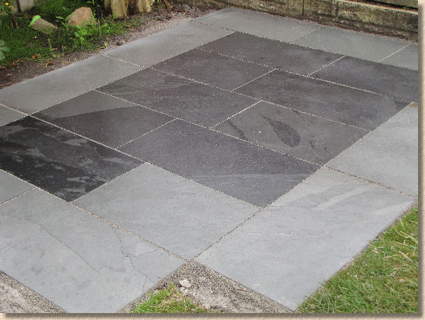 Slate Patio Jointed With A Resin Mortar