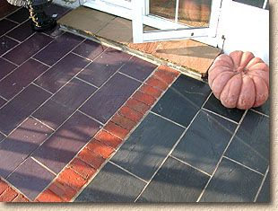Slate Tiles In Plum And Blue, Slate Patios