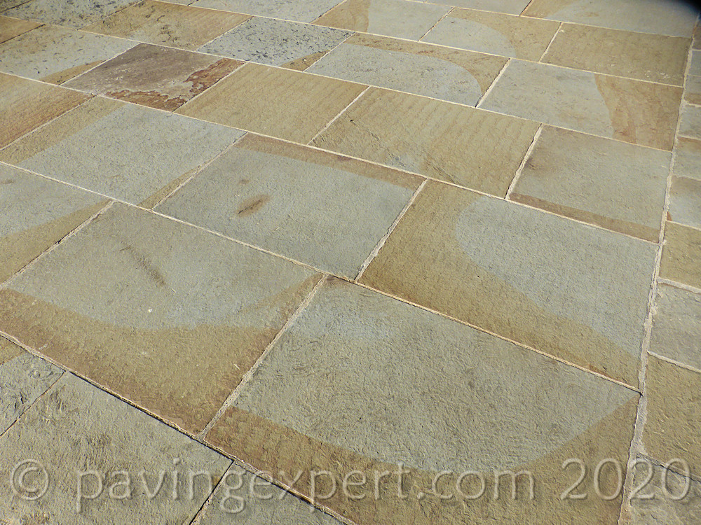 yorkstone flamed paving