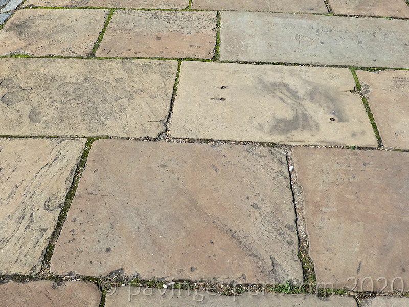 top face of old yorkstone flags
