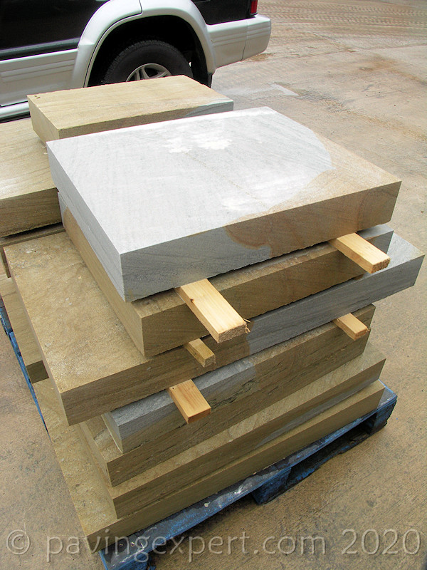 sawn stocks of yorkstone