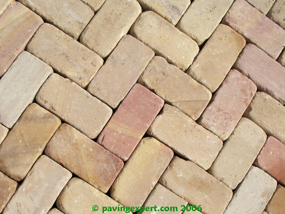 dry unjointed pavers