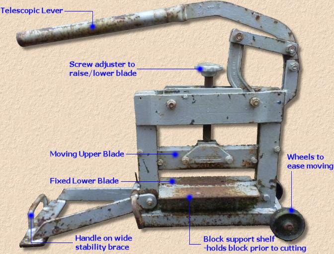Portable block cutter / fixed-blade minipave bellegroup.